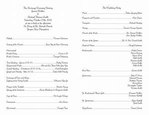 wedding program templates wedding programs fast With wedding ceremony itinerary template