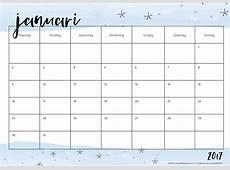 Free Printable kalender voor 2017 Hip & Hot blogazine
