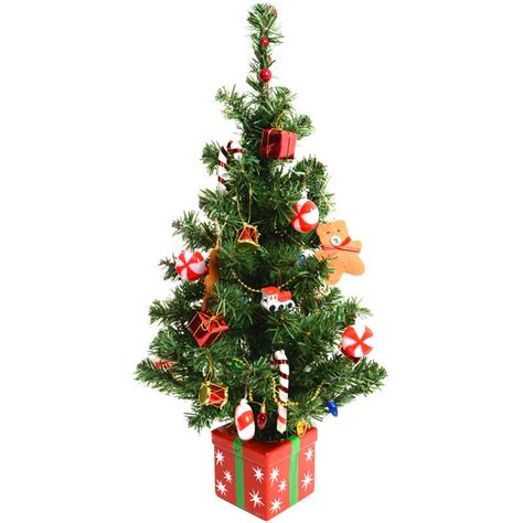 christmas trees decorated fantastic pre decorated 60cm 24 quot artificial desk top table