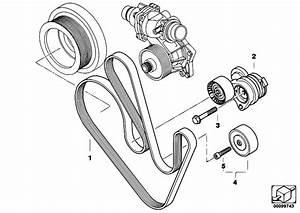 Original Parts For E65 745d M67n Sedan    Engine   Belt