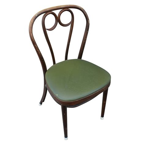 1 vintage thonet bentwood dining side chair olive seat ebay