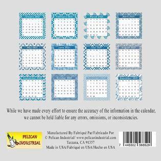 pelican industrial bb  cd style desk calendar