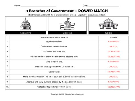 three branches of government worksheet car interior design
