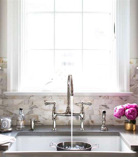 kitchens calcutta gold marble subway tile design ideas