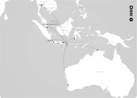 indonesia airasia route map  denpasar bali