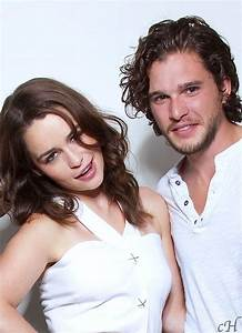 Emilia Clarke and Kit Harington for Entertainment...