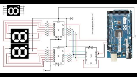 Circuit Diagram Control Seven Segment Displays Using