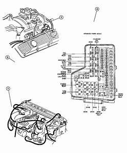 Dodge Ram 2500 Strap  Ground  Cab To Box  Engine  Plenum
