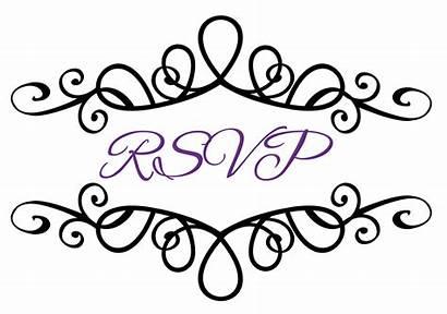 Clip Rsvp Reception Clipart Invitation Western Scroll