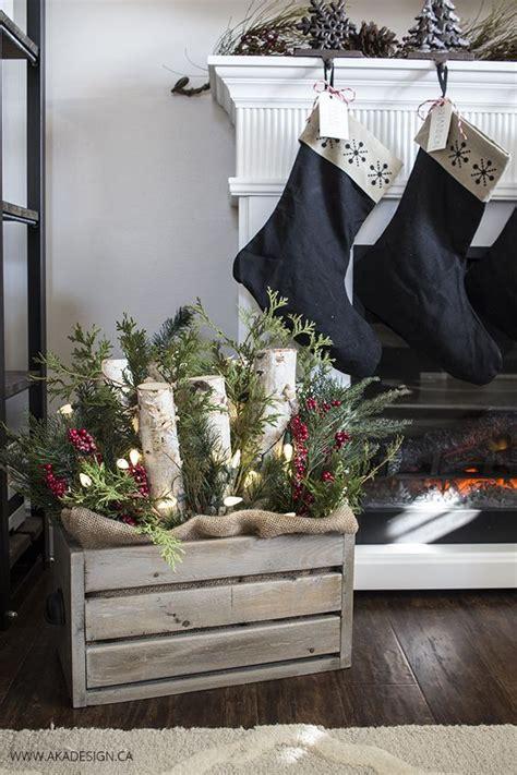 decorazioni natalizie  cassette  legno  idee