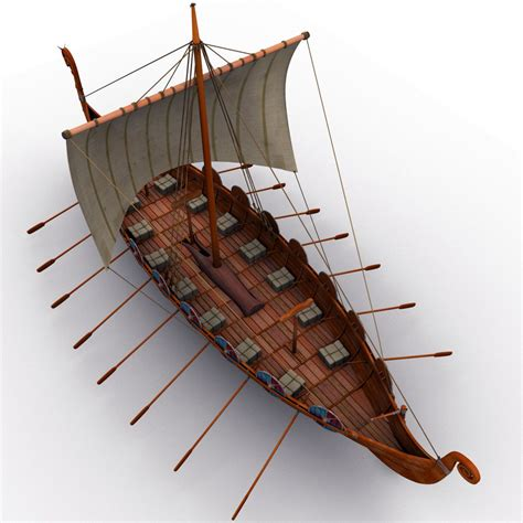 Viking Longboat Model by 3d Viking Ship Boats Model Barco Vikingo