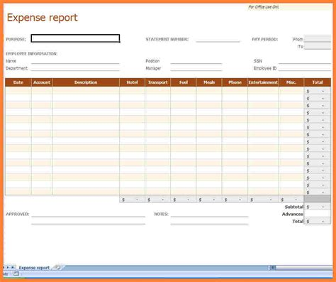Expense Report Template 8 Microsoft Office Expense Report Template Progress Report