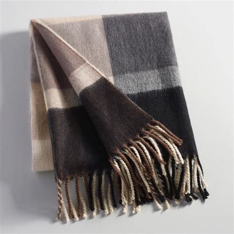 Black and Gray Plaid Throw Blanket   World Market