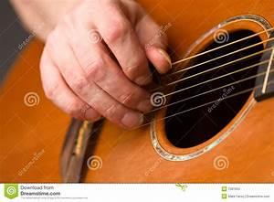 Acoustic Guitar Player Using Plectrum Stock Photos - Image ...