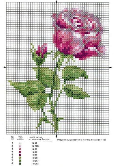 bordados de rosas en punto de cruz rebozos muestrario