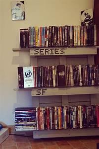 étagère En Palette : tag re dvd en palette mat 39 aime blog lifestyle et geek ~ Dallasstarsshop.com Idées de Décoration