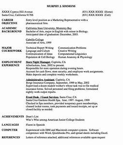 entry level marketing representative resume sample http With free resume tips