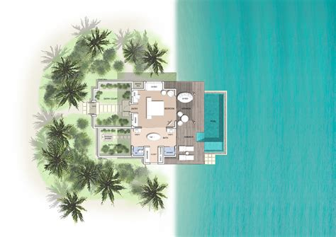 bath floor plans maldives pool villas pool villas at kuramathi