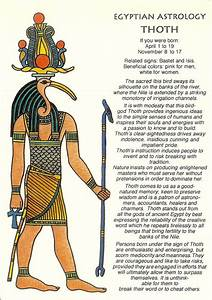 Zodiac Unlimited Egyptian astrology postcard: Thoth ...
