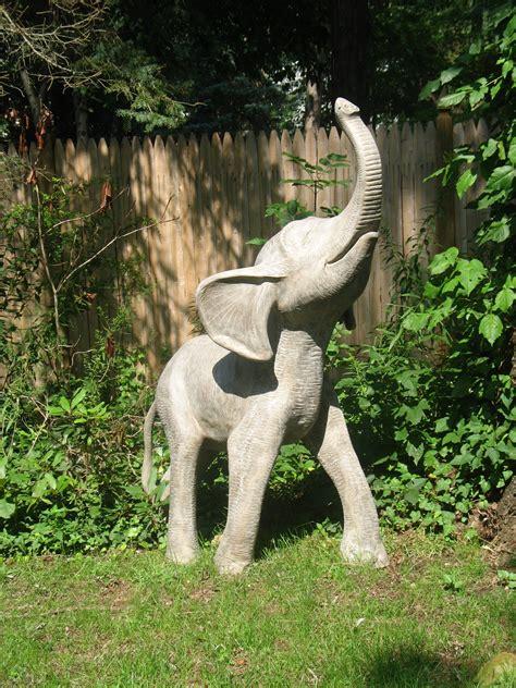 outdoor statue 5 ft outdoor small fiberglass elephant garden statue e statues com