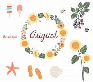 August family word clipart free clipart images image ...