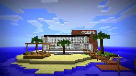 modern island house  minecraft youtube