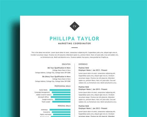 1000 images about resume templates on free