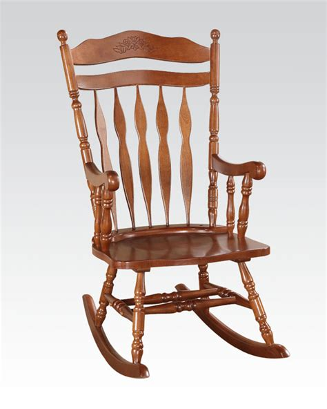 rocking chair in walnut by acme furniture ac59209