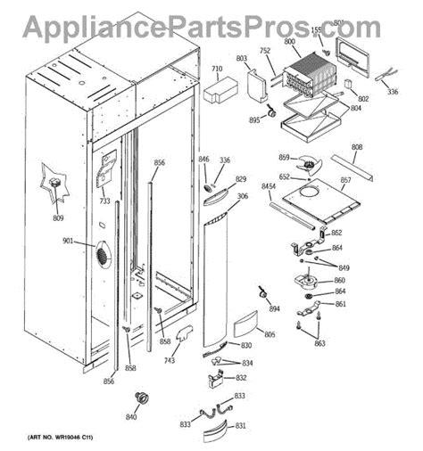 parts  ge zissnrass freezer section parts appliancepartsproscom