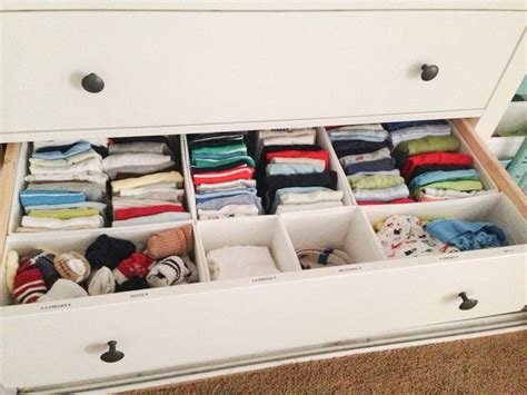 organizing baby drawers nursery dresser organization skubb drawer organizers from ikea and label maker project baby