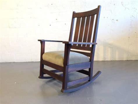 original l jg stickley mission rocking chair oak for sale