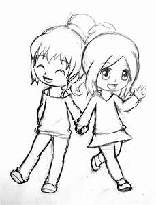 Best Friend Hug Boy And Girl Pencil Sketch - Drawing Of Sketch