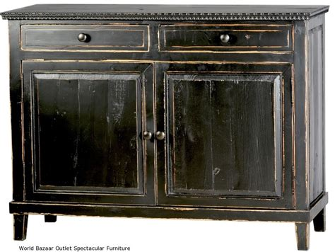 Black Distressed Sideboard by 49 Quot Sideboard Solid Reclaimed Pine Black Distressed