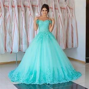 light sky blue color wedding dresses lace appliques ball With robe de soirée bleu turquoise
