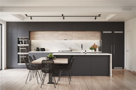 blackberry kitchen visualisation  behance