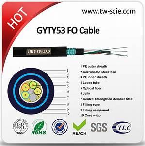 China Double Sheath Optic Fiber Cable Steel Tape Armoured
