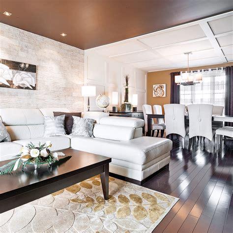 salon et cuisine aire ouverte mélange des matières dans une aire ouverte salon