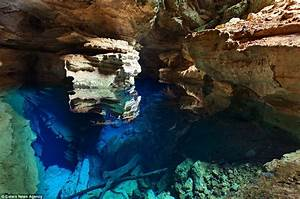 Brazil cave lake has waters so clear that in sunlight it ...