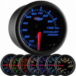 Glowshift Black 7 Color 100 Psi Exhaust Drive Pressure