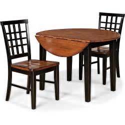 imagio home arlington 3 piece drop leaf dining set black and java walmart com