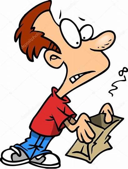 Empty Cartoon Lunch Bag Boy Clipart Smelly
