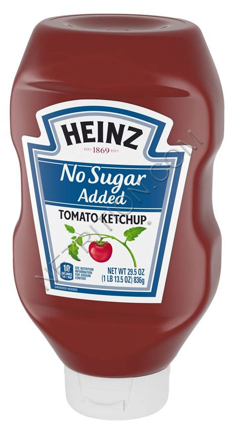 Heinz No Sugar Added Tomato Ketchup at Netrition.com.