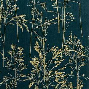 August Dark Green Botanical Silhouette Wallpaper ...