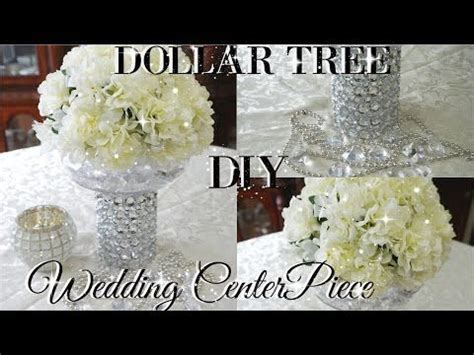 diy dollar tree bling floral wedding centerpiece 2017