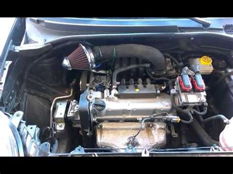 kn air filter fiat punto  youtube