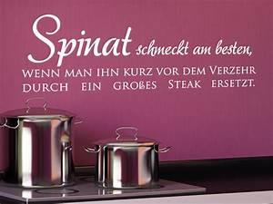 Sprüche Für Die Küche : wandtattoo lustiger spruch spinat schmeckt am besten wenn ~ Watch28wear.com Haus und Dekorationen