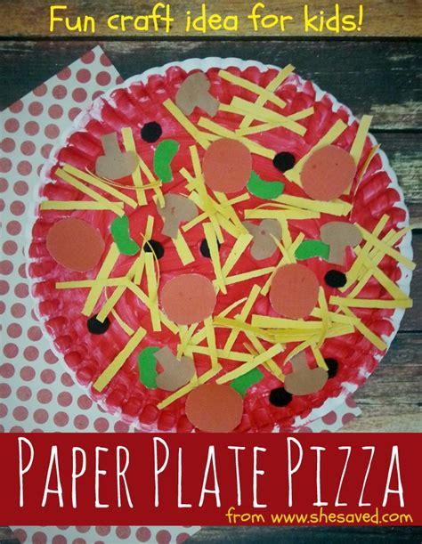 preschool food crafts paper plate pizza craft idea shesaved 174 223