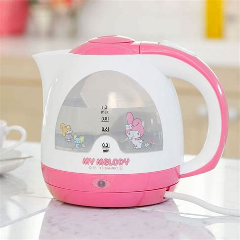 New Sanrio My Melody Electric Kettle cute Kitchen Cordless