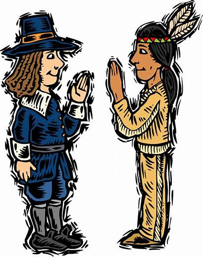 Native American Clip Clipart Americans Thanksgiving Indian