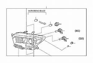 2017 Toyota Tacoma Headlight  Right   Headlamp  Halogen
